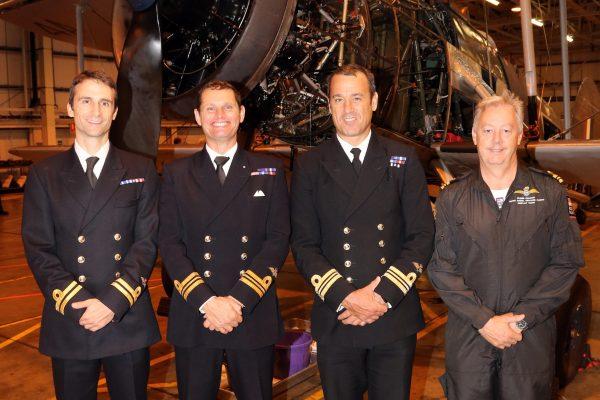 The current Swordfish pilots Rod Royce, Chris Gotke, Mark Jameson and Glenn Allison