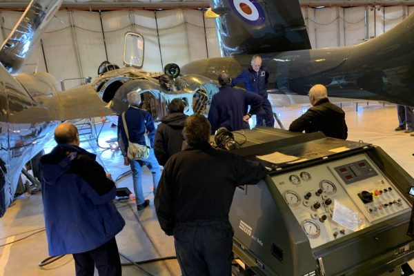 Supporters were able to get up close to the Sea Vixen